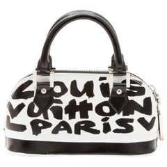 LOUIS VUITTON Alma BB Graffiti Limited Edition in Leather