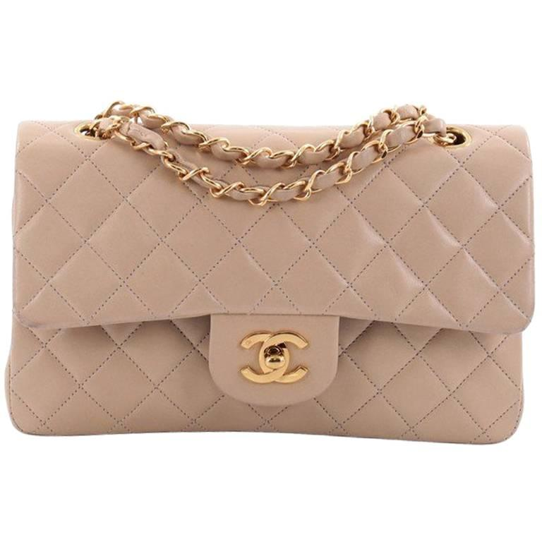 Chanel Vintage Classic Double Flap Bag Quilted Lambskin Small at 1stdibs ea7d575ffa7e8