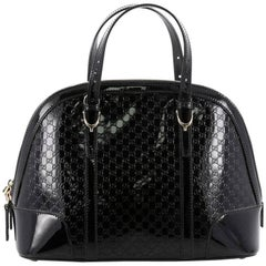 Gucci Nice Top Handle Bag Patent Microguccissima Leather Small