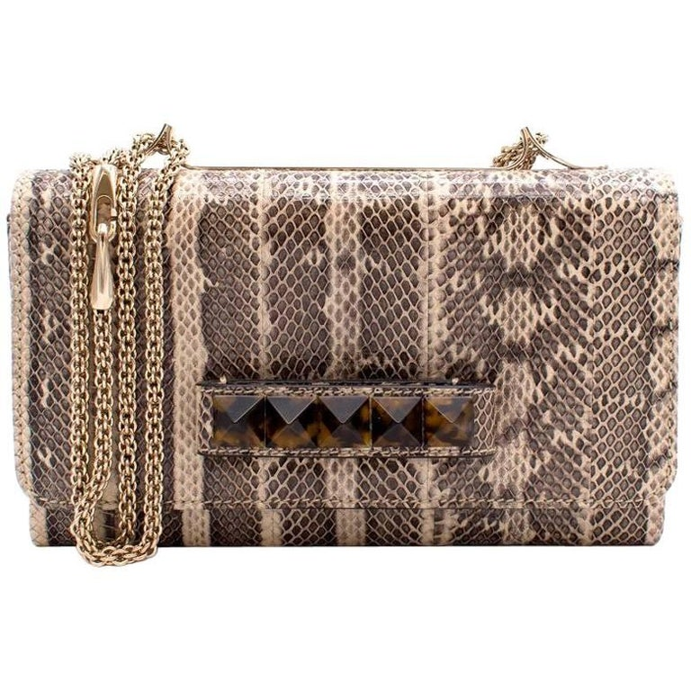 Valentino Va Va Voom Clutch Bag In Python