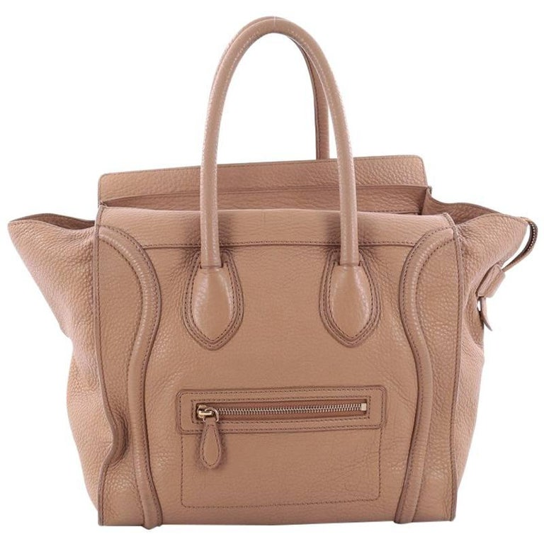 Celine Luggage Handbag Grainy Leather Mini For Sale