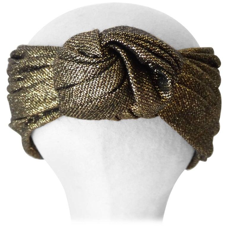 1990s Valentino Night Turban Headwrap