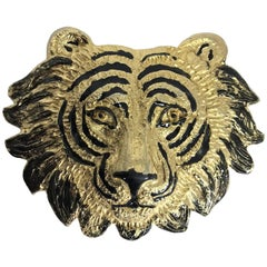 Mimi di N Tiger face belt buckle dated 1987