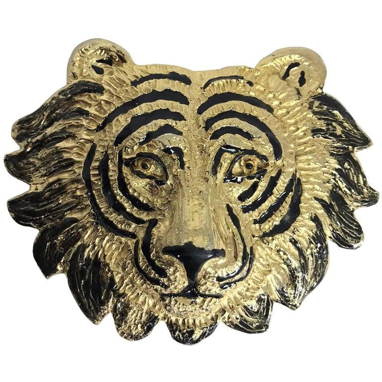 Mimi di N Tiger face belt buckle dated 1987