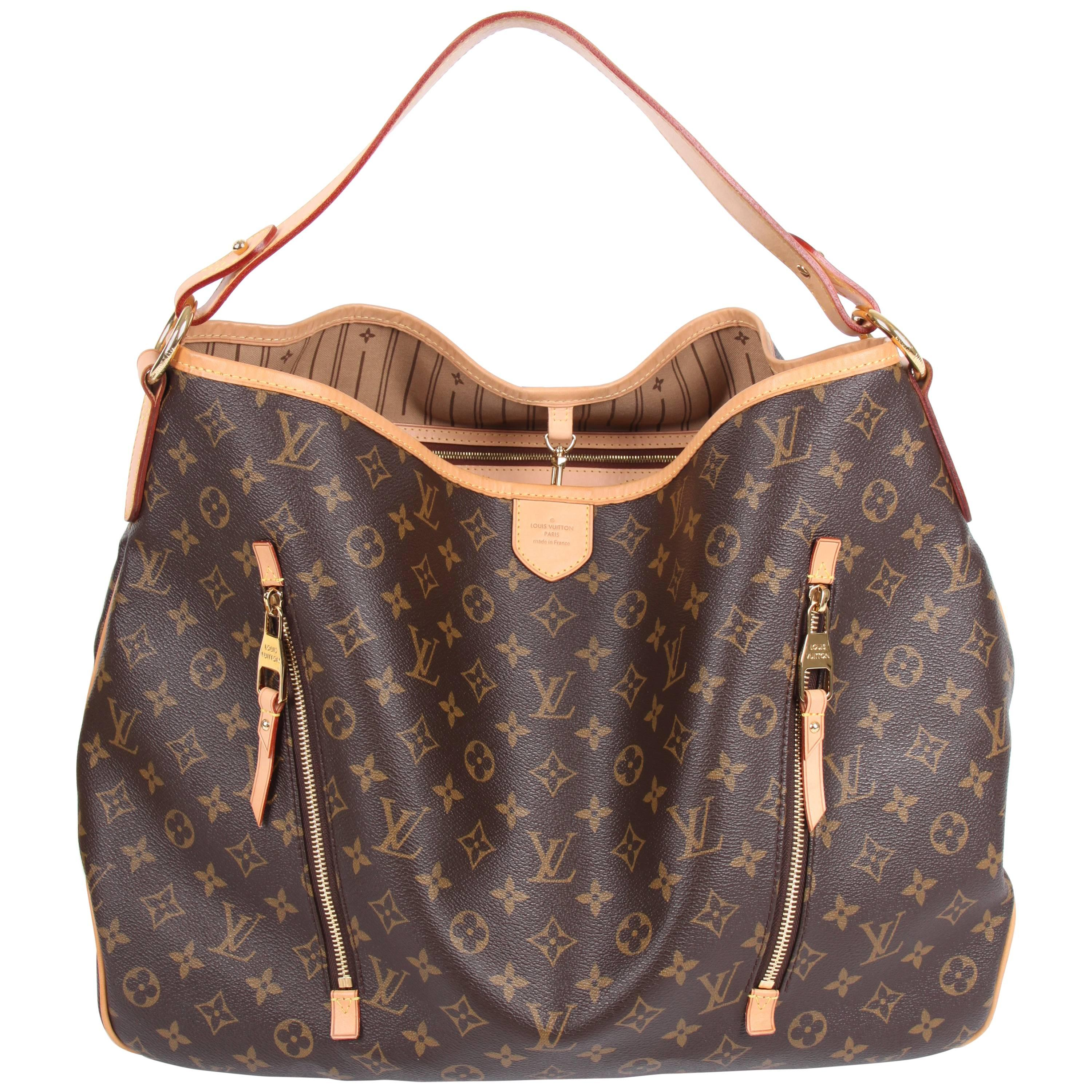 Louis Vuitton Made In France >> Louis Vuitton Delightful Gm Monogram Canvas Bag Brown At 1stdibs