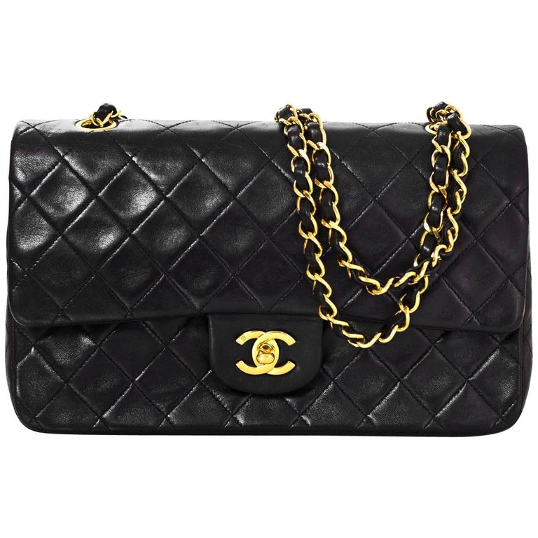 8b6734ab2f63 Chanel '90s Vintage Black Lambskin Quilted Medium 10