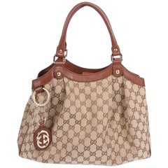 Gucci GG Sukey Tote Bag Medium - brown