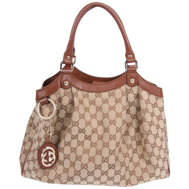 Gucci Gg Sukey Tote Bag Medium Brown For