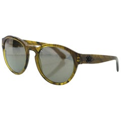 Chanel Green 5359 Pantos Fall Round Frame Sunglasses rt. $405