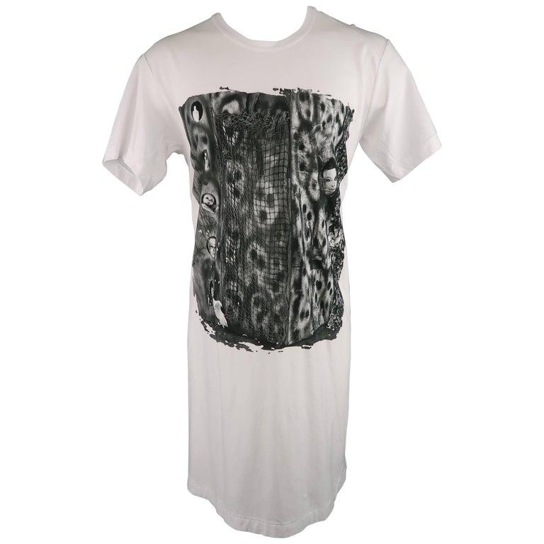 Men's COMME des GARCONS Size M White Roger Ballen Cotton Tall T-shirt For Sale