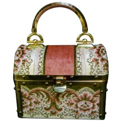Borsa Bella Italian Brocade Box Purse c 1970s