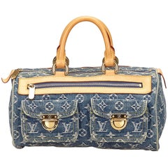 Louis Vuitton Blue Monogram Denim Neo Speedy