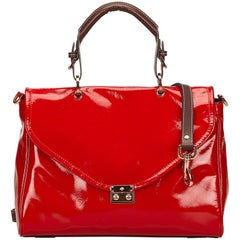 Mulberry Red 2 Way Patent Leather Handbag