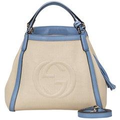 Gucci White Soho Canvas Handbag