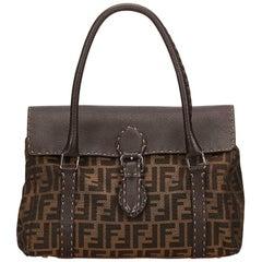 Fendi Brown Zucca Linda Handbag
