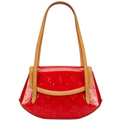 Louis Vuitton Red Vernis Biscayne PM