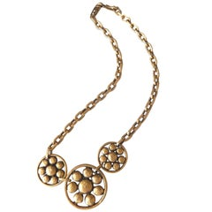 1980s Yves Saint Laurent Stylized Floral Necklace