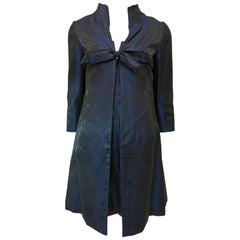 "Black and Blue ""Snakeskin"" Dress and Jacket Set"