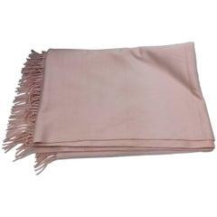 Hermes Large Pink Cashmere Shawl