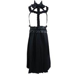 Comme des Garcons Fall 2008 Runway Black ribbon Suspender Dress