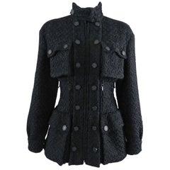 Chanel fall 2014 Supermarket Runway Black Tweed Corset Utility Jacket