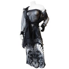 1990s Jean Paul Gaultier Gothic Tube Dress