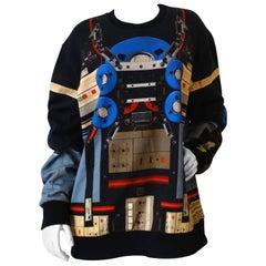 Givenchy Robot Print Crew-Neck Sweatshirt