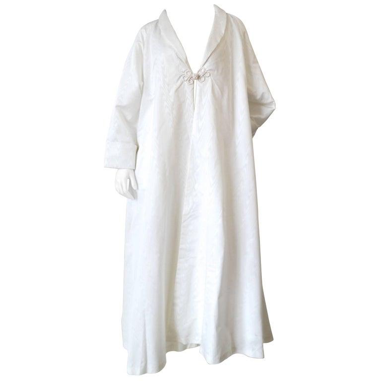 Vintage White Oversized Opera Coat