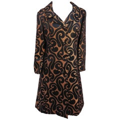 1960s Brocade Swirl Coat