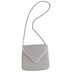 1970s Pierre Cardin White Metal Mesh Purse