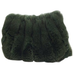 Green Dyed Rabbit Muff