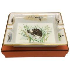 Hermes Ceramic Dog & Bird Ash Tray