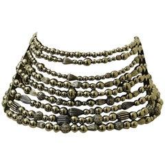John Galliano for Christian Dior 1990s Maasai Inspired Vintage Choker Necklace