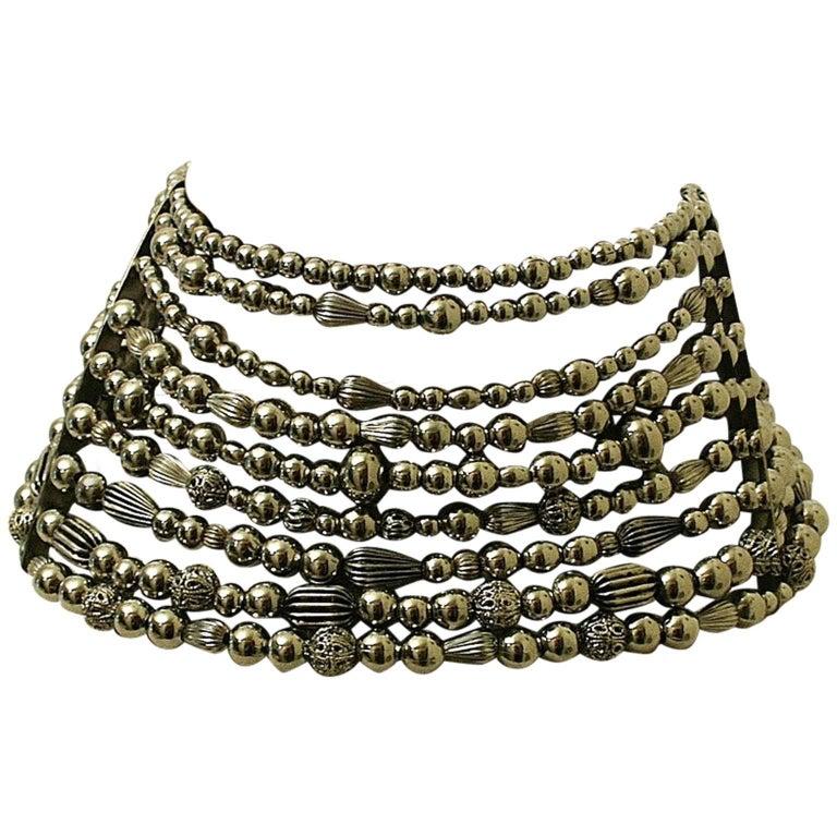 John Galliano for Christian Dior 1990s Maasai Inspired Vintage Choker Necklace 1