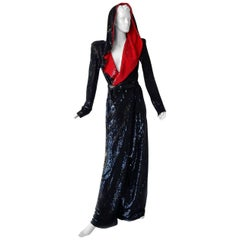 Alexander McQueen Important Dramatic Beaded Evening Gown Coat