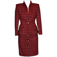 1980s Nina Ricci Wool Suit 36 Fr