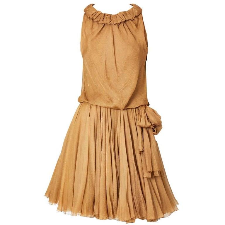 Galanos Multi Layered Chiffon Cocktail Dress 1