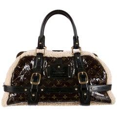 Louis Vuitton Limited Edition Monogram Fur Top Handle Satchel Bag