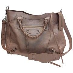Balenciaga Blush Leather Satchel