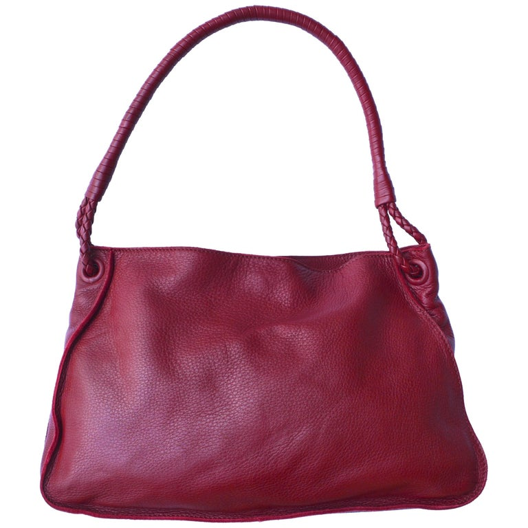 Cherry Red Bottega Veneta Bag For Sale