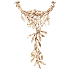 Ambre & Louise Multi Leaf Statement Necklace With Removable Drops