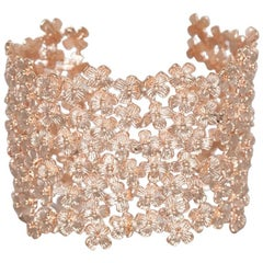 Ambre & Louise Rose Gold Daisy Clover Bracelet