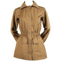 1970's YVES SAINT LAURENT khaki safari jacket