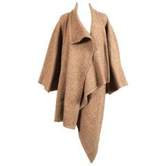 early 1980's ISSEY MIYAKE draped wool cocoon coat