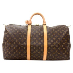 Louis Vuitton Keepall 55 Monogram Canvas Duffle Travel Bag