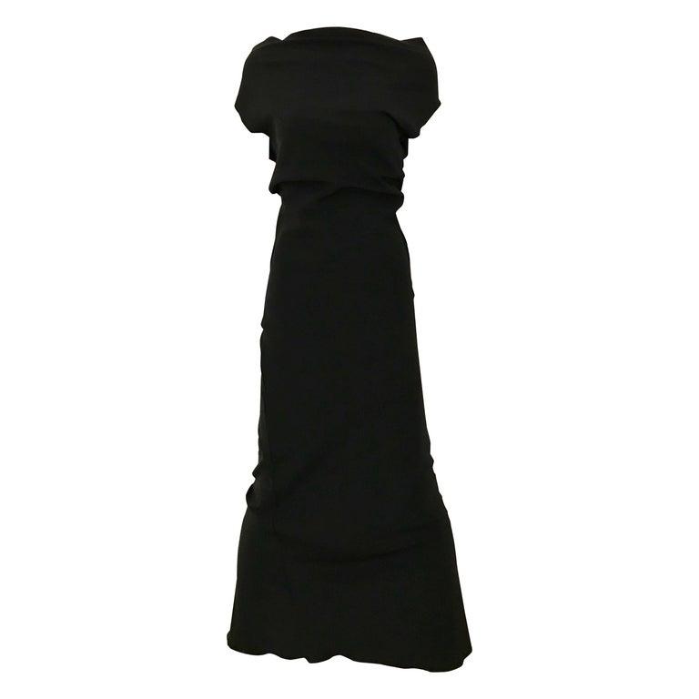 Vintage JIL SANDER Black Silk Dress  1