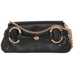 GUCCI Black Leather HORSEBIT Clutch Shoulder Bag TOM FORD ERA