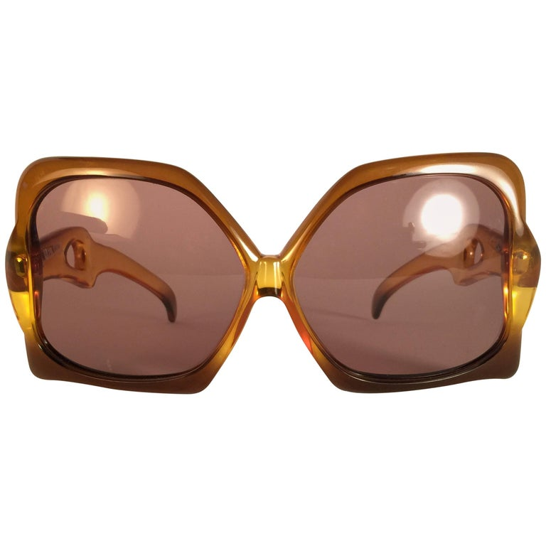 New Vintage Miss Dior Oversized Two Tone Optyl Collector Item Sunglasses Austria
