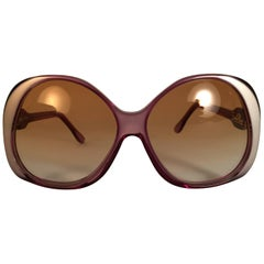 New Vintage Emilio Pucci Clear Oversized Collector Item Sunglasses France