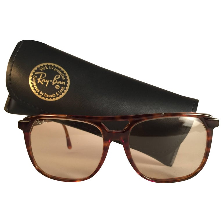 9567f316e9 New Vintage Ray Ban Tortoise F1 Changeable Lenses B L Sunglasses For Sale